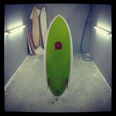 Stringerless surfboard with glass on twin flex fins. Neyrafins@gmail.com