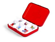 Kikkerland Design Inc » Products » 6 Compartment Pill Box