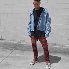 Plaid Track Pants @urkoolwear. Up to 60% off for some sale items. 300 styles available. High quality and good price. Order at www.urkoolwear.com worldwide shipping. #urkoolwear