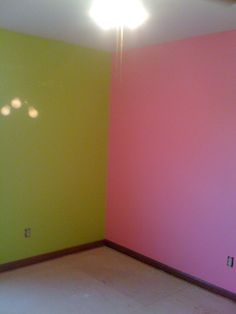 Hot pink lime green teen room google search girls room - Lime green walls in bedroom ...