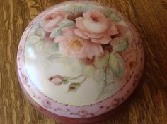 Large Hand Painted Porcelain Box with Roses | eBay - Large
