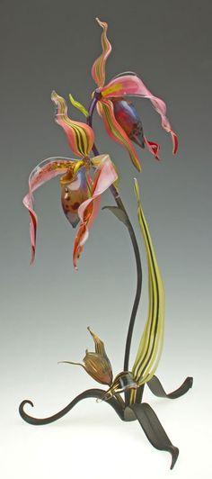 Loy Allen Glass ~ 2012 Standing Metal & Glass Pieces