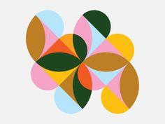 ave Digital Creative Agency, Creative Logo, Color Patterns, Print Patterns, Geometric Patterns, Shape Collage, Logo Shapes, Theme Color, Shape Design
