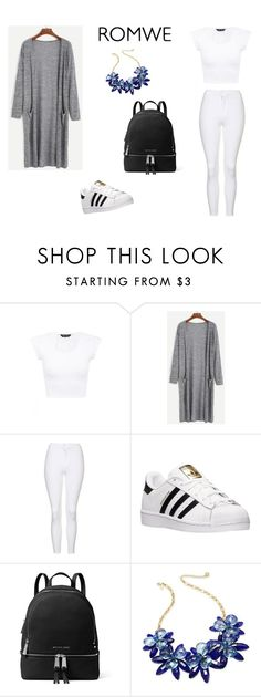 """""""romwe"""" by minna-998 ❤ liked on Polyvore featuring Topshop, adidas, MICHAEL Michael Kors and Kate Spade"""