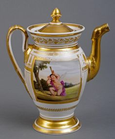 Paris porcelain coffee pot