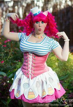 Cool Costumes, Halloween Costumes, Halloween 2017, Costume Ideas, Amazing Cosplay, Best Cosplay, Pinkie Pie Cosplay, Pinkie Pie Human, Cute Fashion