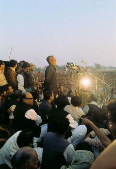 Sheikh Mujibur Rahman at Ramna.  Courtesy: Bangladesh Old Photo Achieve