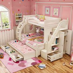 Creative kids bedroom decorating ideas 21 - Home Design Ideas Bed For Girls Room, Cool Kids Bedrooms, Kids Bedroom Sets, Cute Bedroom Ideas, Kids Bedroom Furniture, Small Room Bedroom, Girl Room, Girls Bedroom, Bedroom Decor