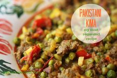 My most requested recipe - Pakistani Kima (ground beef curry)