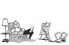 Calvin and Hobbes, Dad and his dropping poll numbers (mostly among six-year-olds)