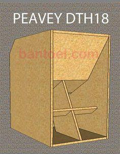 """Skema Box Sub Horn 18"""" Tipe Peavey DTH18 Bass Matap - BANTOEL .COM Custom Speaker Boxes, Speaker Box Design, Diy Subwoofer, Subwoofer Box Design, Horn Speakers, Diy Speakers, Monitor Speakers, Loudspeaker Enclosure, Speaker Plans"""