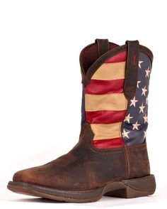 I'm getting these!! Boots for a True American Patriot! Men's Rebel Patriotic Pull-On Boot - Brown