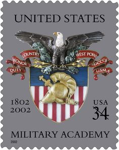 In 2002 USPS issued this stamp to recognize the bicentennial of the United States Military Academy.