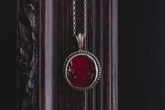 Handmade Sterling Silver Round Ruby Pendant