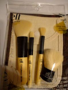 Review: E.L.F. Cosmetics Mineral 4 Piece Bamboo Brush Set ~ The Glamorous French Housewife