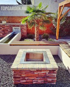 """5 kedvelés, 0 hozzászólás – SD KERT - Spiegel Ákos (@topgarden) Instagram-hozzászólása: """"#kertisütő #kertépítés #kerttervezés #csobogó #palmtree #andezit #landscape #rozsdamentes…"""" Backyard, Patio, Goa, Land Scape, Pergola, Nice, Garden, Outdoor Decor, Modern"""