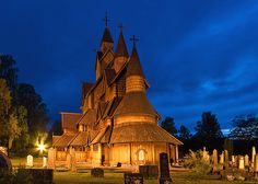 Heddal Stave Church is the larges of 28 stave churches in Norway.