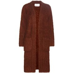 Chloé Oversized Mohair, Wool and Cashmere Cardigan (€2.535) ❤ liked on Polyvore featuring tops, cardigans, orange, oversized cardigans, mohair cardigan, chunky knit cardigan, thick knit cardigan and brown cardigan