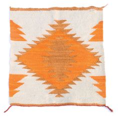 SOLD Vintage Navajo Rug with Bright Orange Diamond Pattern and Magenta Yarn at one edge.Serrated diamond pattern in wearing blanket style, this could ha. Navajo Rugs, Fabric Rug, Rustic Rugs, Cool Rugs, Sheep Wool, Diamond Pattern, Carpet Runner, Rugs On Carpet, Carpets
