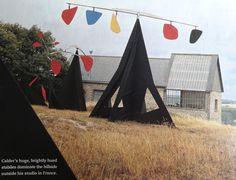 Calder's studio in France.