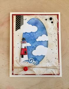 Memory Box Lighthouse Card. Simple Pleasures Rubber Stamps and Scrapbooking, Colorado Springs, CO