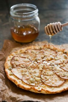 Pear Pizza with Honey