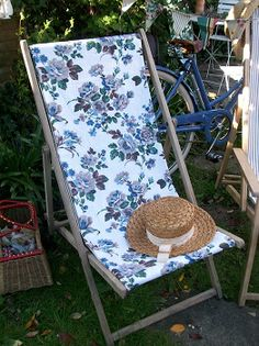 Vintage Deckchairs From Lavender House Vintage #vintage#garden#floral# Deckchairs#home