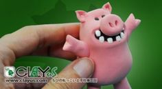 Polymer Clay Crazy Pig Tutorial