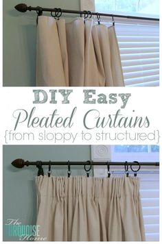 DIY Easy Pleated Cur