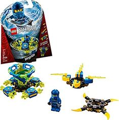 Amazon.com: LEGO NINJAGO Spinjitzu Jay 70660 Building Kit (97 Pieces): Toys & Games Legos, Minifigura Lego, Lego Mario, Mario Toys, Lego Toys, Lego Ninjago Spinners, Lego Spinner, Ninjago Jay, Ninjago Lego Sets