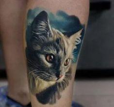 Tatuajes de gatos 10 Cat Portrait Tattoos, Cat Paw Tattoos, Black Cat Tattoos, Animal Tattoos, Cute Tattoos, Small Tattoos, Foot Tattoos, Flower Tattoos, Sleeve Tattoos