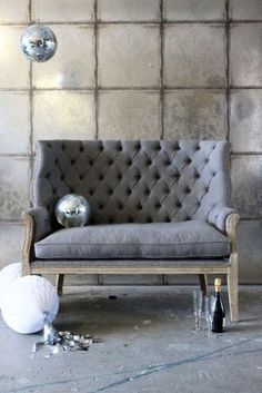 Goteburg Buttoned Sofa in Charcoal Grey