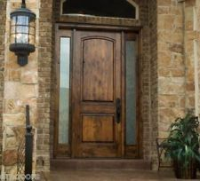 rustic door -I want to replace our front door so bad with a wood door like this and smaller sidelights.
