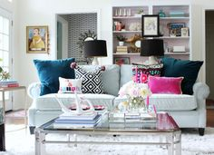 great pops of color and texture