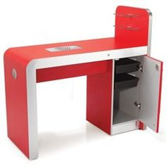 REM Infiniti Nail Bar With Storage: Infiniti Nail Station is available with or without storage in any REM colour. Infiniti has the same advanced Air Filter system as Concorde as standard. Nail Desk, Nail Station, Manicure, Nails, Nail Bar, Beauty Shop, Corner Desk, Storage, Desks