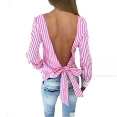 Bowknot Backless Str