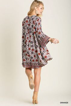 Abstract Print Key Hole Dress @knittedbelle #knittedbelle