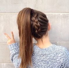 So. Cute. Braid. Pony. Tail. French. Dutch. Under. Neath. Not. That. Easy. But. Still. Cute. Need. To try.