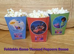 Foldable Home Popcorn Box - Download and Print 'Home' Movie Popcorn Box Dreamworks Home Birthday Party Dreamworks Home Movie Party Favor by InstantBirthday on Etsy
