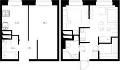 Alaprajz - Kis lakás berendezése alacsonyabb költségvetéssel, praktikusan - egy példa, 33m2