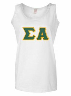 Sigma Alpha Lettered Tank Top