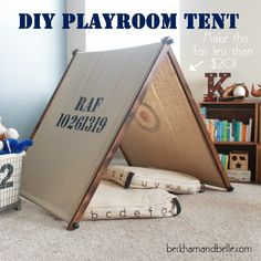 Beckham + Belle: DIY Fold-Up Kids Playroom Tent (for less than $20!)