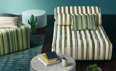 Elle decoration april 2016 by Isaac Source - issuu Romo Wallpaper, Romo Fabrics, Upholstery Fabrics, Textile Design, Fabric Design, New Living Room, Elle Decor, Jade, Interior Inspiration