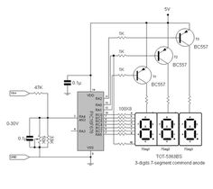 Digital volt meter using PIC 16F676*Circuits Mania