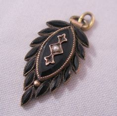 mourning jewelry   SALE Victorian Jet Seed Pearl Mourning by BrightEyesTreasures, $79.99