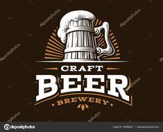 corona logo Craft beer logo- vector illustration, emblem brewery design on dark background. Home Brewery, Beer Brewery, Home Brewing Beer, Brewery Decor, Beer Logo Design, Brewery Design, Anuncio Perfume, Hanging Wine Glass Rack, Beer Brands