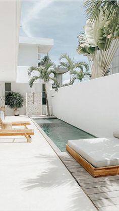 Backyard Pool Designs, Small Backyard Pools, Backyard Landscaping, Outdoor Spaces, Outdoor Living, Small Pool Design, Villa, Architecture, Exterior Design