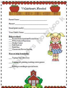 Parent Volunteer Survey