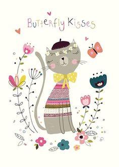 Nikki Upsher 'Postcard Butterfly Kisses'