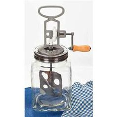 Shop our online store for Lehman's Dazey Butter Churn. Make churning butter fun and easy with the glass Dazey Butter Churn, found only at Lehman's. How To Churn Butter, Better Butter, Wood Stove Cooking, Churning Butter, Ball Mason Jars, Survival Prepping, Emergency Preparedness, Survival Skills, Preserving Food